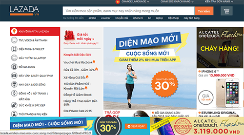 mua sắm online trên lazada