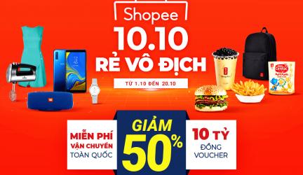 Tổng hợp chương trình khuyến mãi 10.10 Của Shopee – Tiki – Lazada – Sendo